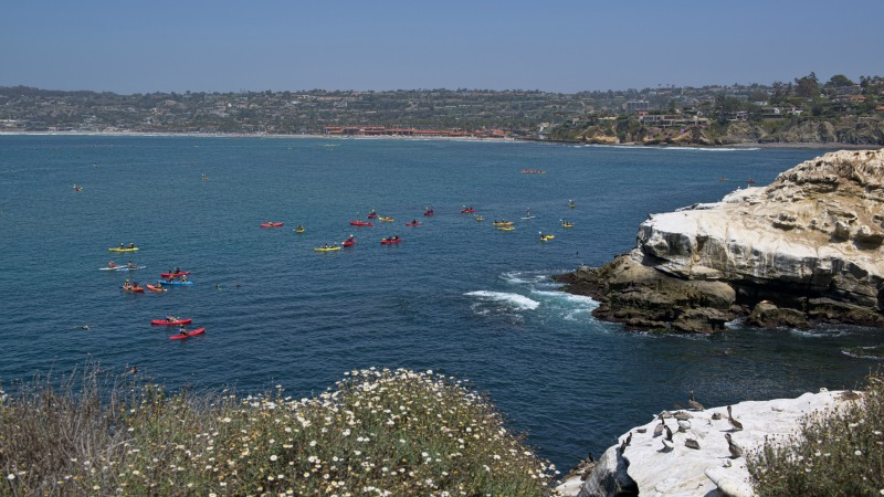 Kayaking in La Jolla Caves, La Jolla Homes for Sale