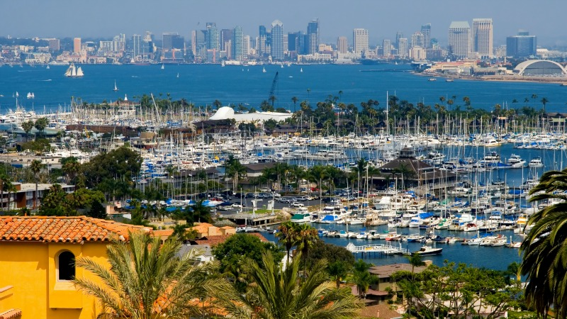 Downtown San Diego from La Playa Neighborhood, Point Loma Homes for Sale